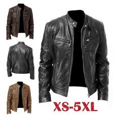 brown, bikerjacket, Plus Size, Vintage