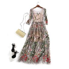 Flowers, apricotdresse, womenfashiondresses2piece, Vintage