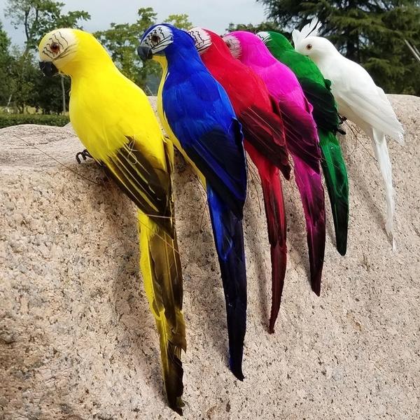decoration, simulationbird, macaw, Garden