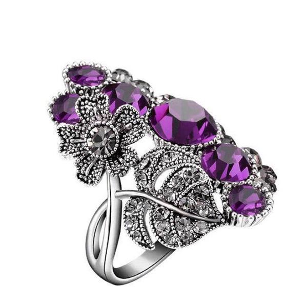 bohemia, Turquoise, 925 silver rings, Diamond Ring
