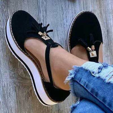 casual shoes, Summer, Tassels, Plus Size