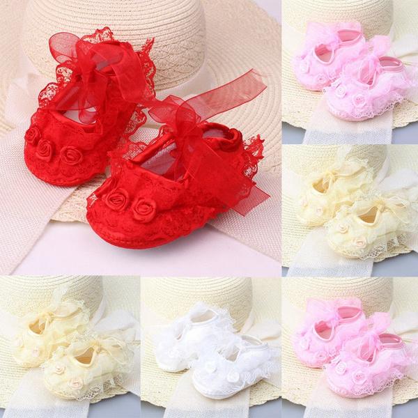 newbornbabycuteshoe, Flowers, Princess, Lace