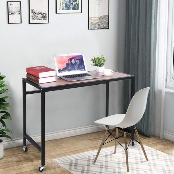 Mobile Computer Desk Portable Home, Computer Desk Wheels