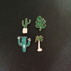leafbrooch, coconut, brooches, leaf