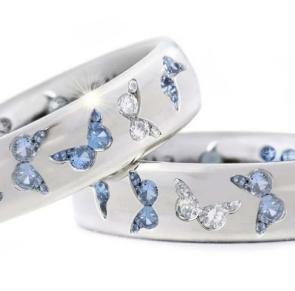butterfly, cute, DIAMOND, wedding ring