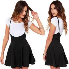 Mini, Adjustable, halter dress, Pure Color