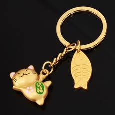 luckycatkeychain, cute, Key Chain, Keys