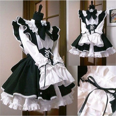 apron, black, Cosplay, Lace