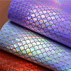 Fabric, fishscalecloth, cricut, puleatherette