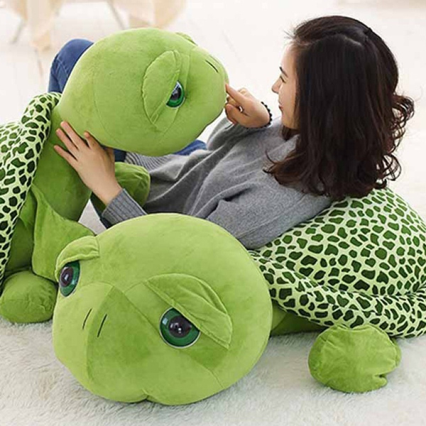 30cm / 40cm / 60cm / 80cm Big Stuffed Plush Toy Big Eyes Turtle Stuffed  Animal Stuffed Cushion Soft Sea Small Turtles Dolls for Kids Gift | Wish