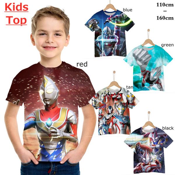 kidscasualshirt, Shirt, printed, ultraman