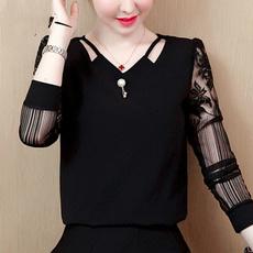 blouse, And, Sleeve, chiffon