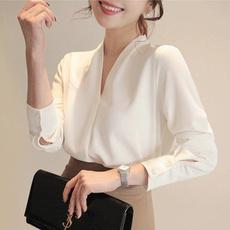 blouse, white shirt, Chiffon top, Office
