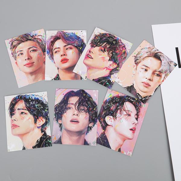 K-Pop, postercard, painting, lomocard
