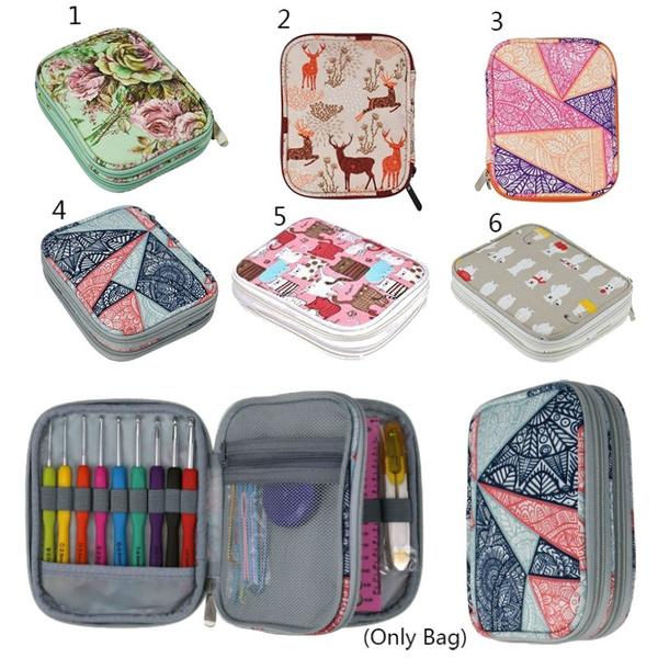 zipperbag, crochetneedleorganizer, crochet, Storage