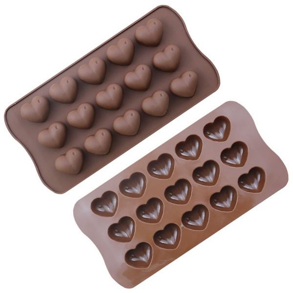 Heart, mouldsilicone, chocolatemould, cute