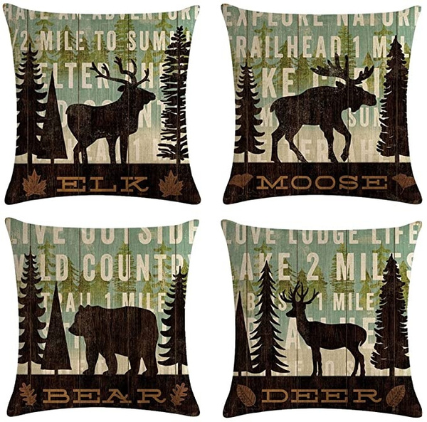 Home Decor, Cover, Home textile, Deer