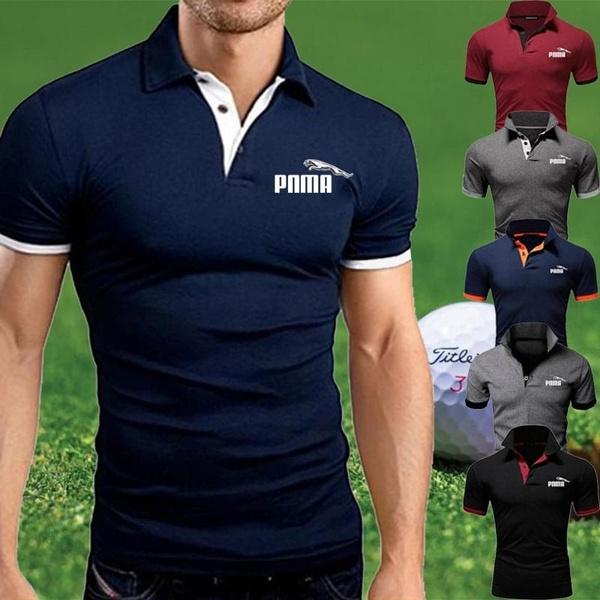 2020 Fashion Men S Polo Shirt Men S Slim Casual T Shirt Wish