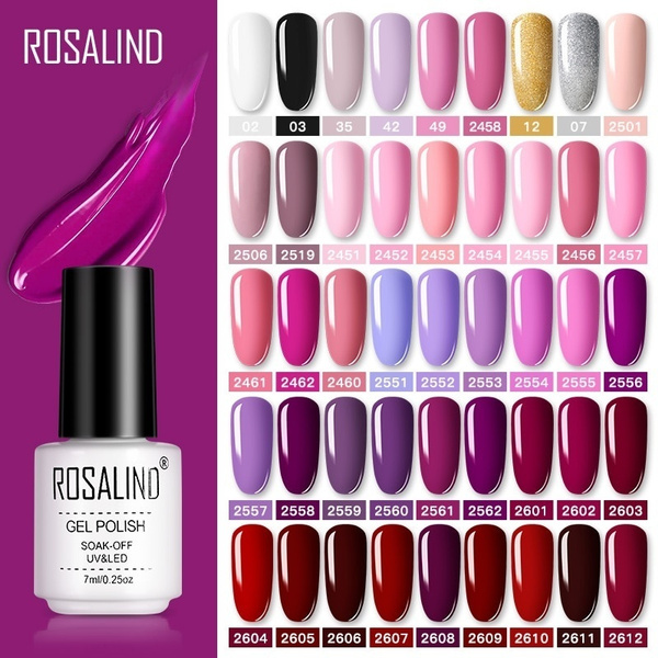 Rosalind Gel Polish Set Uv Vernis Semi Permanent Primer Top Coat 7ml Poly Gel Varnish Nail Art Manicure Gel Lak Polishesnails Wish