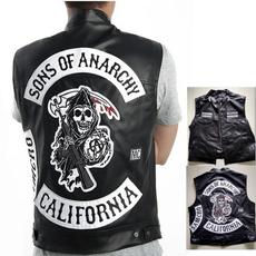 motorcyclejacket, Vest, sonsofanarchyleathervest, Waist Coat