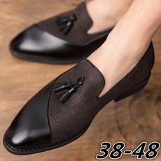 casual shoes, Tassels, captoeshoe, mensleatherslipon