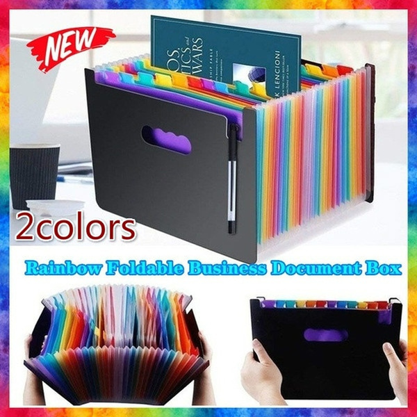 rainbow, documentsorganizer, businessfilingbox, fileholder