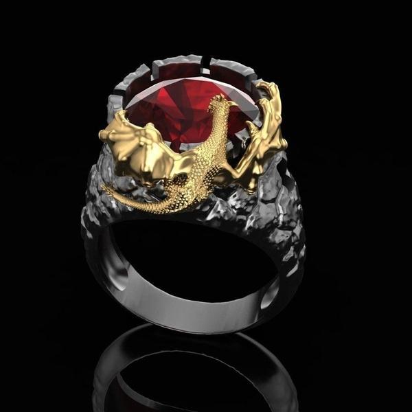 ringsformen, Stainless Steel, dragonring, gold