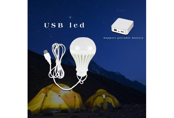 12V SMD LED Lamp Laptop Outdoor Camping Tent Fishing Night Light Hanging 5W