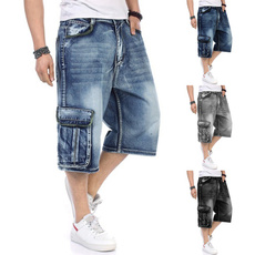 summerpant, men jeans, Plus Size, Men Shorts