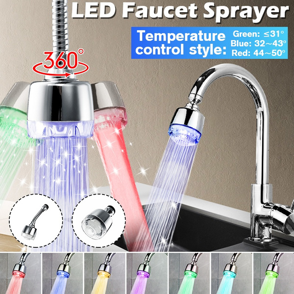 bathroomfaucet, water, swivel, led