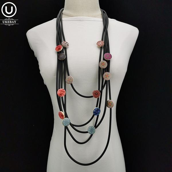 bohemia, Wood, crystal pendant, Women's Fashion & Accessories