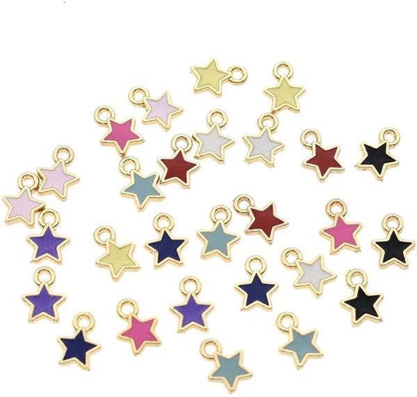 Necklace, Mini, Star, multiplecolour