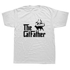 catdad, Cotton T Shirt, Short Sleeve T-Shirt, Cotton