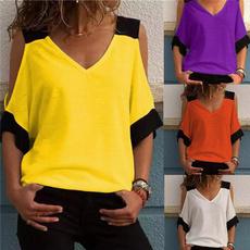 blouse, Summer, topsamptshirt, Cotton Shirt