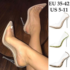 Summer, Plus Size, Pvc, Stiletto