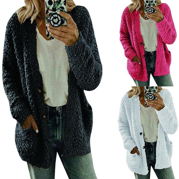 Plus Size, Winter, Long Sleeve, Coat