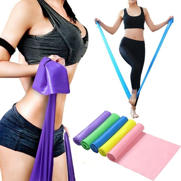 1.5M High Quality Yoga Equipment Training Elastic Resistance Band Yoga  Rubber Loops Pilates Band Women Fitness Accessories Rubber Belt   Wish