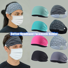 headbandwithbutton, Head Bands, Yoga, Elastic