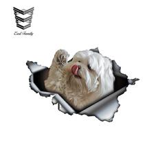 Car Sticker, petdogcartornmetaldecal, Funny, Pets