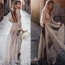 halter dress, Halter, Long Sleeve, Evening Dress