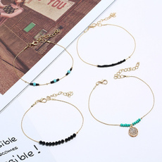 Summer, Anklets, Simple, 4piece