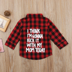 Fashion, baby clothing, Sleeve, kidsplaidtop