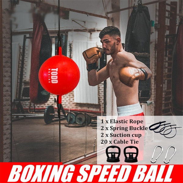 Double End Muay Thai Boxing Punching Bag Speed Ball Punch Training Fitness