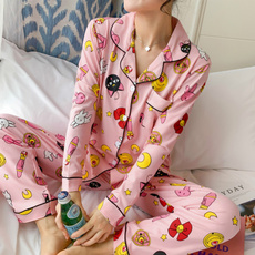 pink, pajamaset, animepajama, Cotton