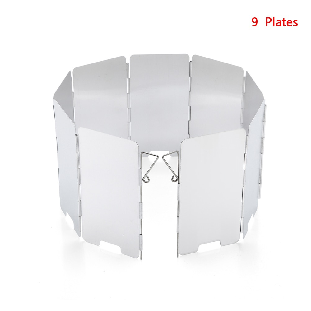 10 PCS Plates Outdoor Foldable Camping Cooking Cooker Gas Stove Wind Shield XBL