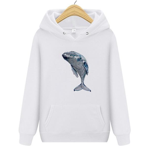 whale, printhoodie, Fashion, Winter