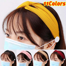 facemaskholder, Beauty, buttonheadband, button