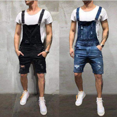 suspenders, jeansformen, ripped, Plus Size