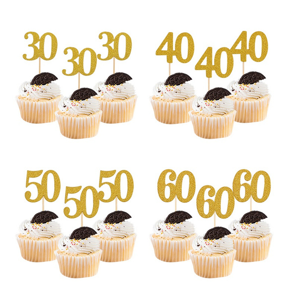 goldcaketopper, birthdaycaketopper, 30thbirthday, 18thbirthday