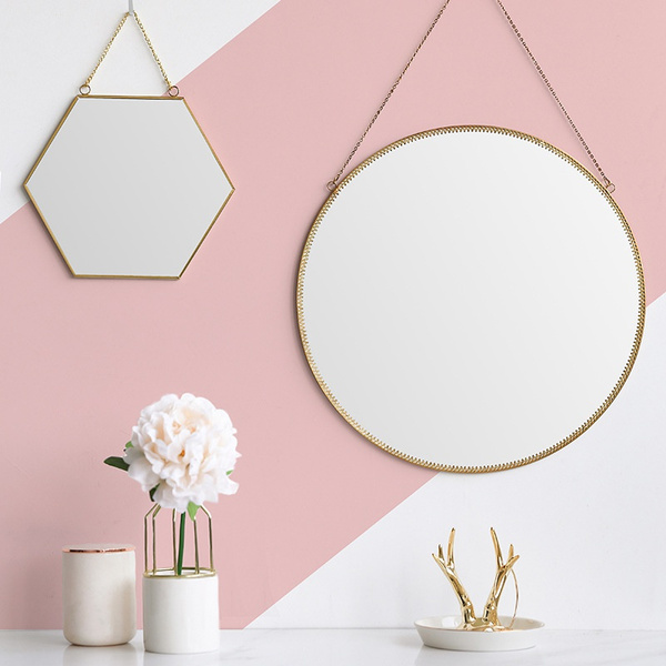 Makeup Mirrors, golden, Bathroom, wallhangingmirror